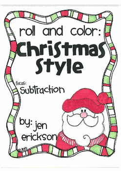 Roll and Color CHRISTMAS STYLE: Subtraction