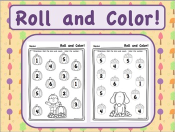 Roll and Color Counting Numbers 1-6