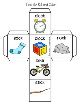 Roll and Color Early Sounds Articulation Packet