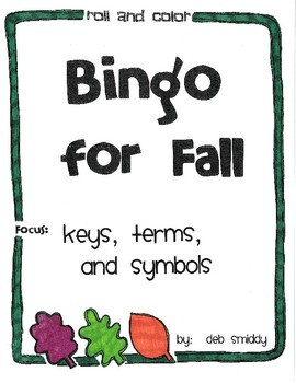 Roll and Color FALL BINGO:  Keys, Terms, and Symbols