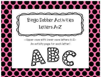 Roll and Color - FREE! A-Z Letter Practice (Dab, trace, and circle)