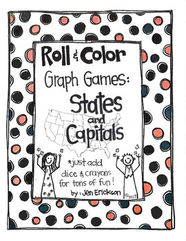 Roll and Color GRAPH GAMES:  States and Capitals