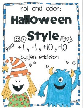 Roll and Color HALLOWEEN STYLE: +1, -1, +10, -10