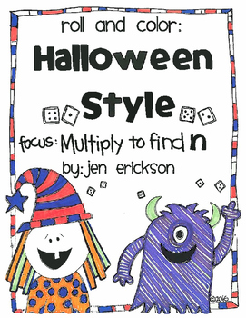 Roll and Color HALLOWEEN STYLE:  Multiply to Find n