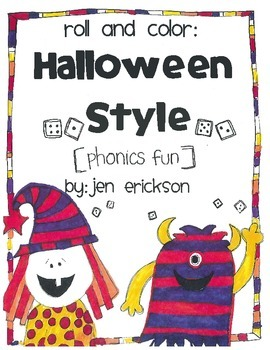 Roll and Color:  HALLOWEEN STYLE PHONICS FUN