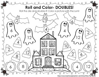 Roll and Color- Halloween Edition!