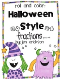 Roll and Color Halloween Style: Fractions (part 1)