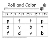 Roll and Color Letters