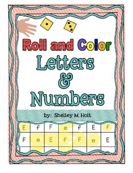 Roll and Color - Letters & Numbers