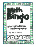 Roll and Color MATH BINGO:  Double Digit Addition (with NO regrouping)