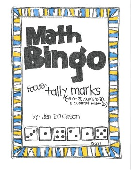 Roll and Color MATH BINGO:  Tally Marks