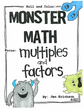 Roll and Color MONSTER MATH:  Multiples and Factors