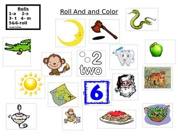 Roll and Color M,T,S,A