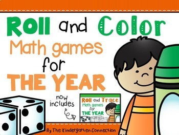 Roll and Color Math Games for the Year by The Kindergarten Connection