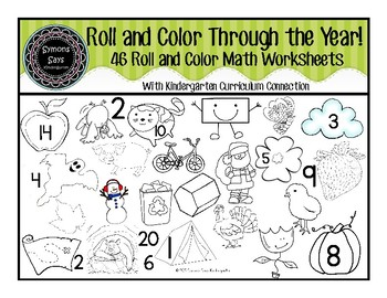Roll and Color Math Through the Year!