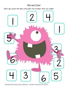 Roll and Color Monster Game