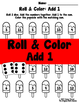 Roll and Color: Add 1