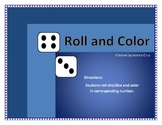 Roll and Color Numbers aligned to Common Core