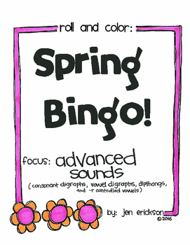 Roll and Color SPRING BINGO:  Advanced Sounds