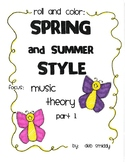 Roll and Color SPRING:  Music Theory Part 1
