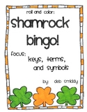 Roll and Color ST. PATRICK'S DAY BINGO:  Key, Terms, and Symbols