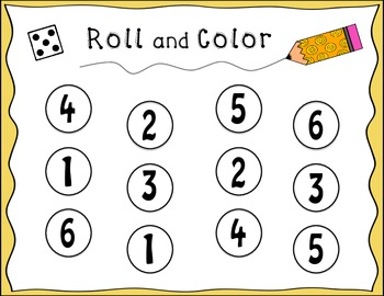 Roll and Color 6 Pack!