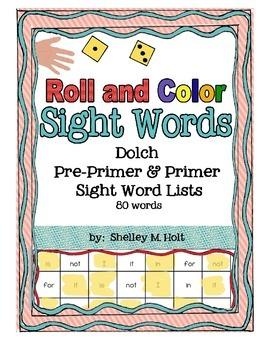 Roll and Color - Sight Words Pre-Primer & Primer