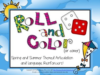 Roll and Color - Spring and Summer Themed Articulation and