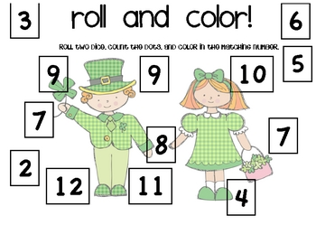 Roll and Color - St. Patrick's Day