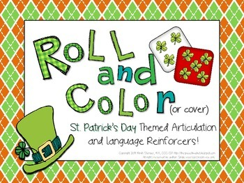 Roll and Color St. Patrick's Day Articulation and Language Reinforcers