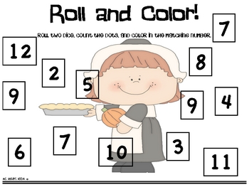 Roll and Color Thanksgiving
