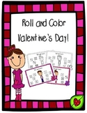 Roll and Color Valentine's Day