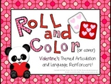 Roll and Color Valentine's Day Articulation and Language Reinforcers