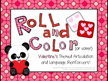 Roll and Color Valentine's Day Articulation and Language R