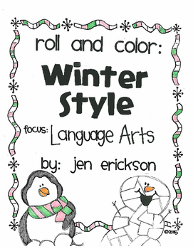Roll and Color WINTER STYLE:  Language Arts