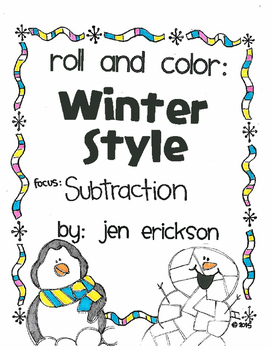 Roll and Color WINTER STYLE:  Subtraction