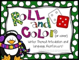 Roll and Color Winter-Themed Articulation and Language Reinforcers