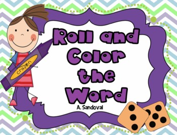 Roll and Color the Word in English