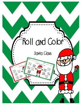 Roll and Color Santa Claus