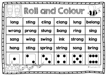 Roll and Colour ng th and ck FREEBIE