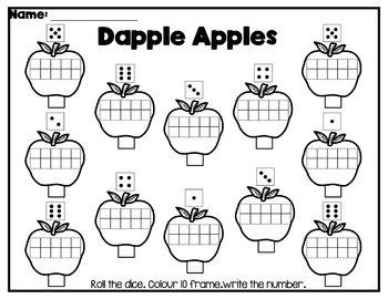 Roll and Colour the Apples