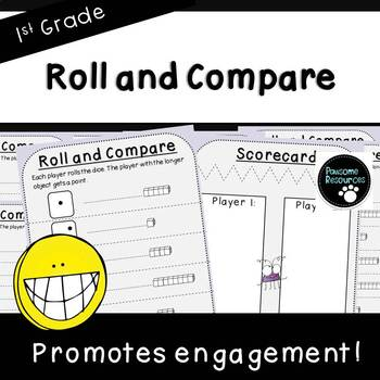 Roll and Compare-Measurement Activity (First Grade, 1.MD.1)