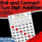 Two Digit Addition Math Game: Roll and Connect (2.NBT.5)