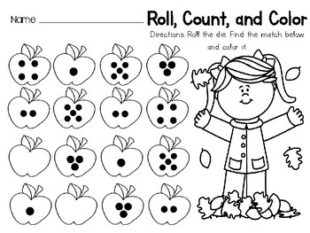 Roll and Count Apples