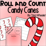 Roll and Count Candy Canes ~ Math Games ~ Math Centers