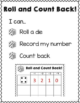 Roll and Count On! Dice Game for Counting On