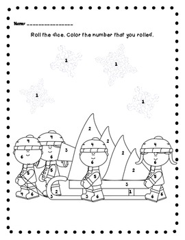 Roll and Count Santa