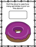 Roll and Count - Sprinkles on a Donut {FREEBIE}