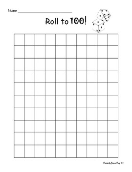 Roll and Count to 100
