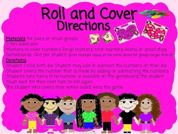 Roll and Cover 1.OA.C.6 Valentine